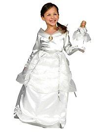 Barbie Prinzessin weiß Kinderkostüm + Puppenkleid