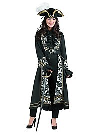 Baroque ladies coat with floral ornaments