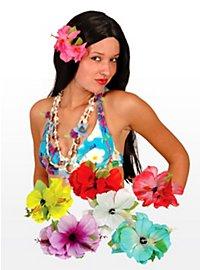 Barrette exotique Hawaï rose