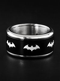 Batman - Emblem Ring rotierend schwarz