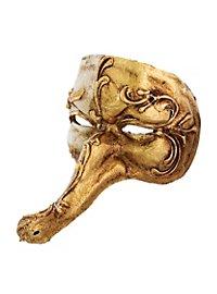 Batocchio piccolo oro bianco Venezianische Miniaturmaske