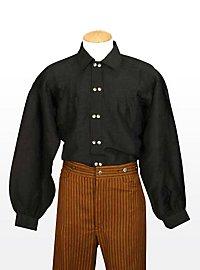 Baumwollhemd schwarz