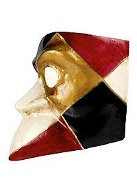 Bauta arlecchino - Venezianische Maske