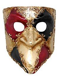 Bauta scacchi colore bianco musica - Venezianische Maske