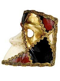 Bauta scacchi colore - Venezianische Maske