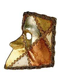 Bauta scacchi tre folglie - Venezianische Maske