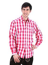 Bayernhemd pink-weiß