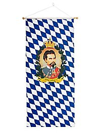Beer Garden Banner with King Ludwig