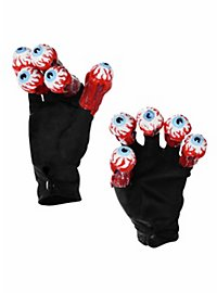 Beetlejuice Handschuhe mit Augäpfeln