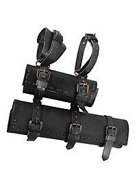 Belt Hanger with 2 Scabbards black