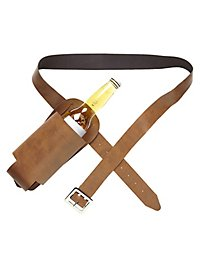 Belt with bottle holster