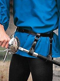 Belt with double strap sword hanger