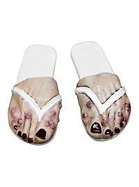 Beulenpest-Füße Frau