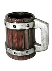 Bierkrug - mit Metallreifen