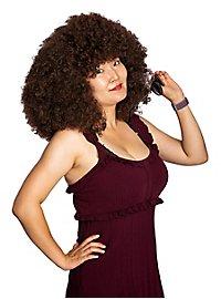Big Afro Perücke braun