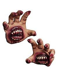 Bissige Monsterhände aus Latex