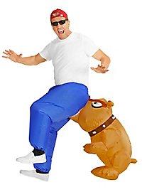Biting dog inflatable costume