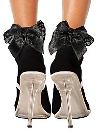 Black Ankle Socks with black Bow