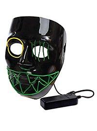 Black Bite Leuchtmaske mit Batteriefach