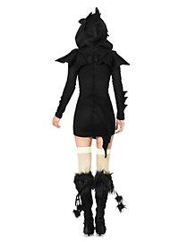 Black Dragon Hoodie Dress