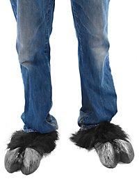 Black hooves Shoe boot tops