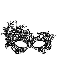 Black lace mask asymmetric