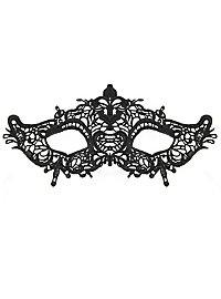 Black Lace Mask Fleur de Lis