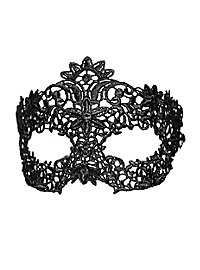 Black lace mask floral