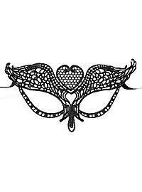 Black lace mask heart