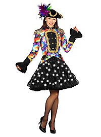 Black LED Petticoat colorful glowing