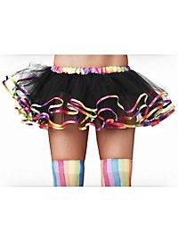 Black Petticoat with Rainbow Trim