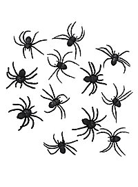 Black Spider Halloween Deco 12 pieces