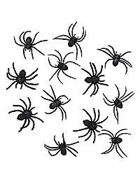 Black Spider Halloween Deco 12 pieces