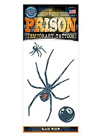 Black Widow Temporary Prison Tattoo