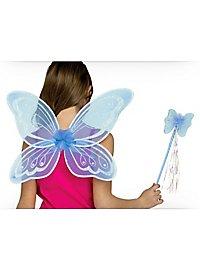 Blaue Fee Accessoire Set für Kinder