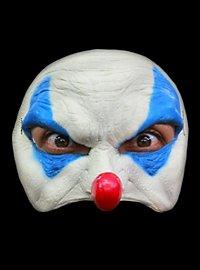 Blauer Clown Halbmaske aus Latex