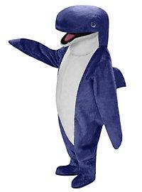 Blauer Wal Maskottchen