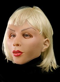 Blonde diva latex mask