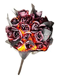 Blood Red Halloween Bouquet with Light Effect