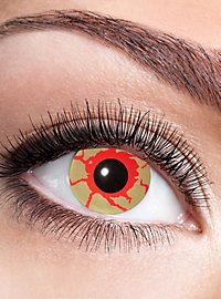 Bloodlust contact lens with dioptres