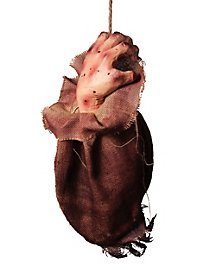 Bloody Hand in a Sack Halloween Decoration