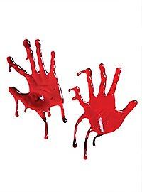 Bloody Hands 3D Window Decor
