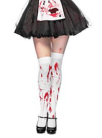 Bloody over-knee stockings