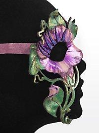 Blütenzauber Morning Glory Halbseitige Augenmaske aus Leder