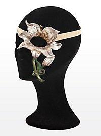 Blütenzauber rosa Lilie Halbseitige Augenmaske aus Leder