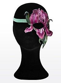 Blütenzauber Schwertlilie Halbseitige Augenmaske aus Leder