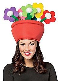 Blumentopf Kopfbedeckung