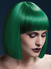 Blunt Cut Perücke grün
