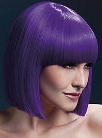 Blunt Cut Wig purple