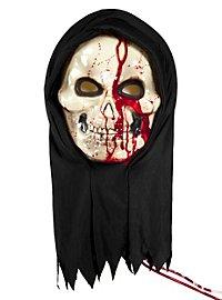Blutende Skelettmaske